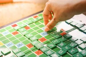 Playing mathematical games for students photo