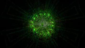Dark lights effects 3d illustration
