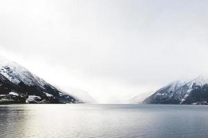 Norway Fjord Lake winter