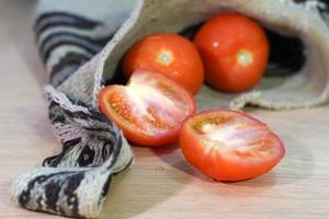 fresh tomatoes cut photo