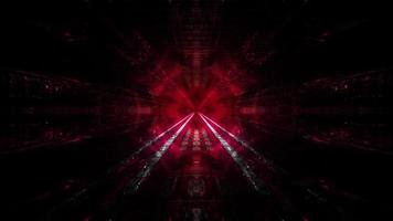 Red Dark tunnel dream vision 3d illustation background wallpaper art design