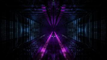 Dark tunnel dream vision 3d illustation visual background wallpaper art design
