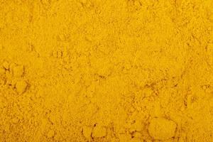 top view of turmeric powder background and texture