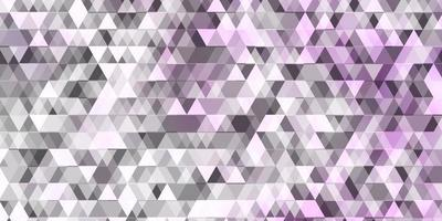 Light Purple vector background with lines, triangles.