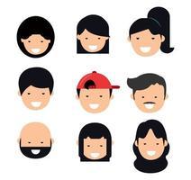 avatar, gente, cara, conjunto vector