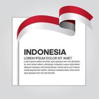 cinta de bandera de onda abstracta de indonesia vector