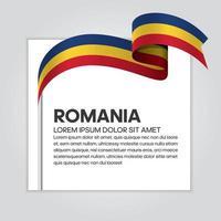 cinta de bandera de onda abstracta de rumania