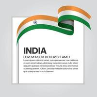 cinta de bandera de onda abstracta de india vector
