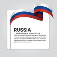 Russia abstract wave flag ribbon vector