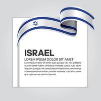 Israel abstract wave flag ribbon vector