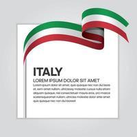 cinta de bandera de onda abstracta de italia vector