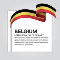 Belgium abstract wave flag ribbon vector