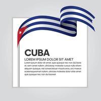 cinta de bandera de onda abstracta de cuba vector
