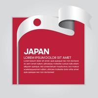 cinta de bandera de onda abstracta de japón vector