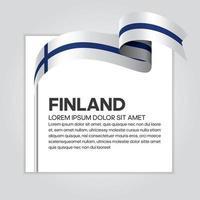 Finland abstract wave flag ribbon vector
