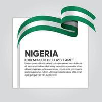 Nigeria abstract wave flag ribbon vector