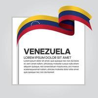 Venezuela abstract wave flag ribbon vector