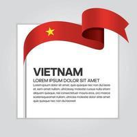 Vietnam abstract wave flag ribbon vector