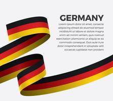 Germany abstract wave flag ribbon vector
