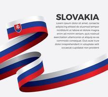 Slovakia abstract wave flag ribbon vector