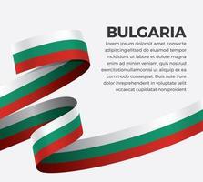 cinta de bandera de onda abstracta de bulgaria