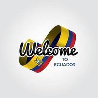 bienvenido a ecuador vector