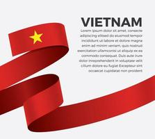cinta de bandera de onda abstracta de vietnam vector