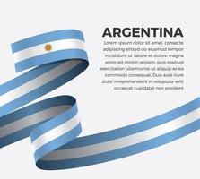 cinta de bandera de onda abstracta de argentina vector