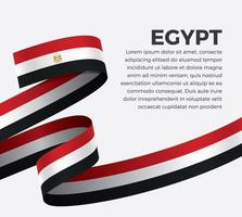 cinta de bandera de onda abstracta de egipto vector
