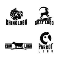 Animal logo vintage template premium vector