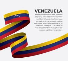 cinta de bandera de onda abstracta de venezuela vector