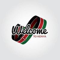 bienvenido a Kenia vector