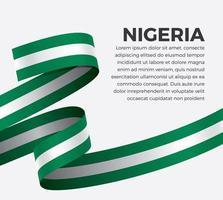 cinta de bandera de onda abstracta de nigeria vector