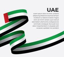 UAE abstract wave flag ribbon