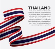 cinta de bandera de onda abstracta de tailandia vector