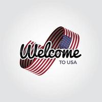 Welcome to USA vector