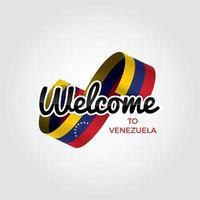 bienvenido a venezuela vector