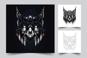 dog artwork illustration vector