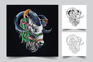 horse artwork illustration vector