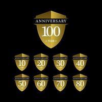 años aniversario celebración vector plantilla diseño ilustración