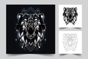bear artwork illustration vector