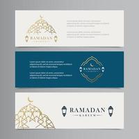 Ilustración de diseño de plantilla de vector de banner de ramadan kareem