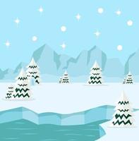 concepto de fondo ártico del polo norte de invierno vector