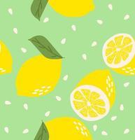 Seamless pattern Fresh lemons background vector