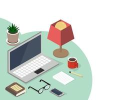 E-learning isometric style  Online education concept vector