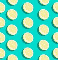 patrón sin costuras de verano con rodajas de limón vector