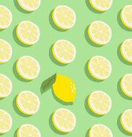 patrón sin costuras de fruta de limón vector