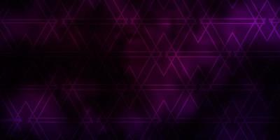 Dark Pink vector background with triangles.