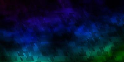 Fondo de vector azul oscuro, verde con triángulos.