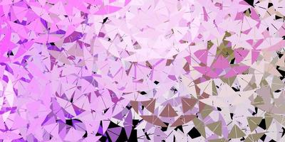 Light pink, green vector background with triangles.